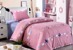 Детское постельное белье Самолетики (розовые)