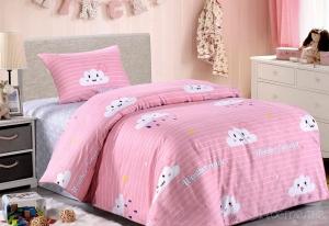 Детское постельное белье Веселые тучки (розовые)