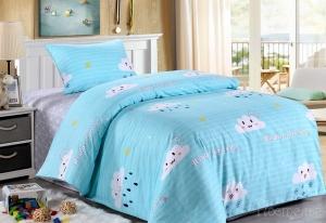Детское постельное белье Веселые тучки (голубые)