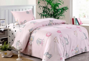Детское постельное белье Элиот (розовый)