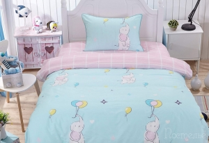 Детское постельное белье Бруно (голубой)