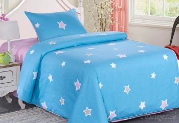 Постельное белье Звездочки (голубые)