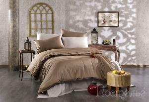 Элитное постельное белье ALIX (коричневый/тёмно-коричневый)