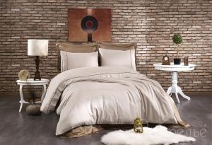 Элитное постельное белье ALIX (тёмно-коричневый/коричневый)