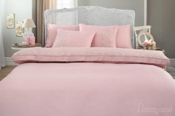 Постельное белье Bella темно-розовый
