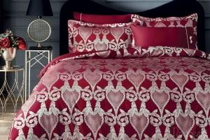 Элитное постельное белье Berta бордовый
