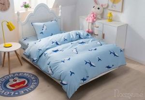Детское постельное белье Брюс (голубой)