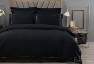 Однотонное постельное белье Дайкири (черный)