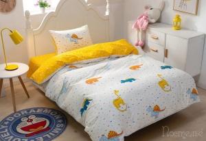 Детское постельное белье Дино (желтый)
