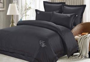 Элитное постельное белье Джонатан (черный)