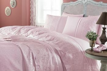 Набор с покрывалом Donna розовый (7 предметов)