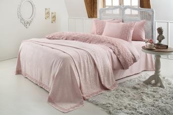 Набор с покрывалом Esma розовый (7 предметов)
