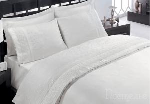 Элитное постельное белье FESTIVAL (белый) с гипюром