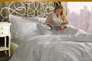 Элитное постельное белье HELENA (белый) с кружевом
