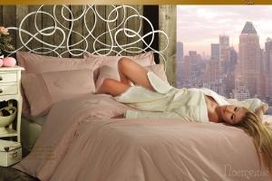 Элитное постельное белье HELENA (гр.роз) с кружевом