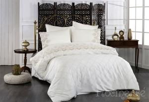 Элитное постельное белье IRINOVA (кремовый)