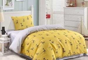 Детское постельное белье Жираф (желтый)