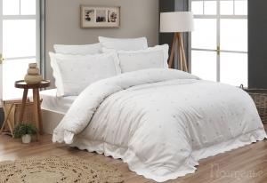 Элитное постельное белье LES COUERS (беж) с вышивкой