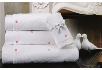 Полотенце Love розовый