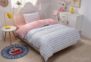 Детское постельное белье Микки (розовый)