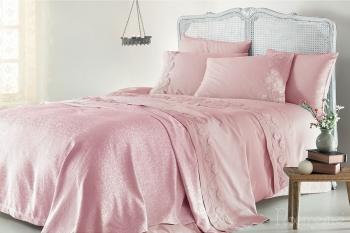 Набор с покрывалом Napoli розовый (7 предметов)