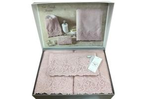 Полотенца NEW TRENDY (розовый)