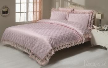Постельное белье Nisa розовый