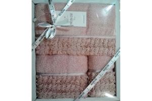 Полотенца ROSA (гр-розовый)