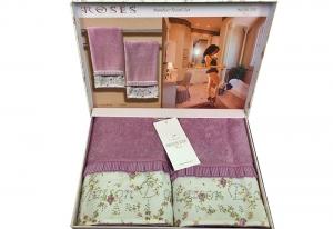 Полотенца ROSES (фиолетовый)