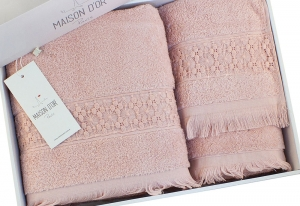 Полотенца SUZANNE (гр-розовый)