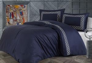 Элитное постельное белье VIENZA т-синий